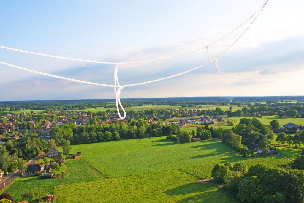 Ballonvaart platteland dorpjes Nederland